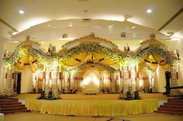 wedding,reception,sangeet decorators and stage flower decorators in Hyderabad.