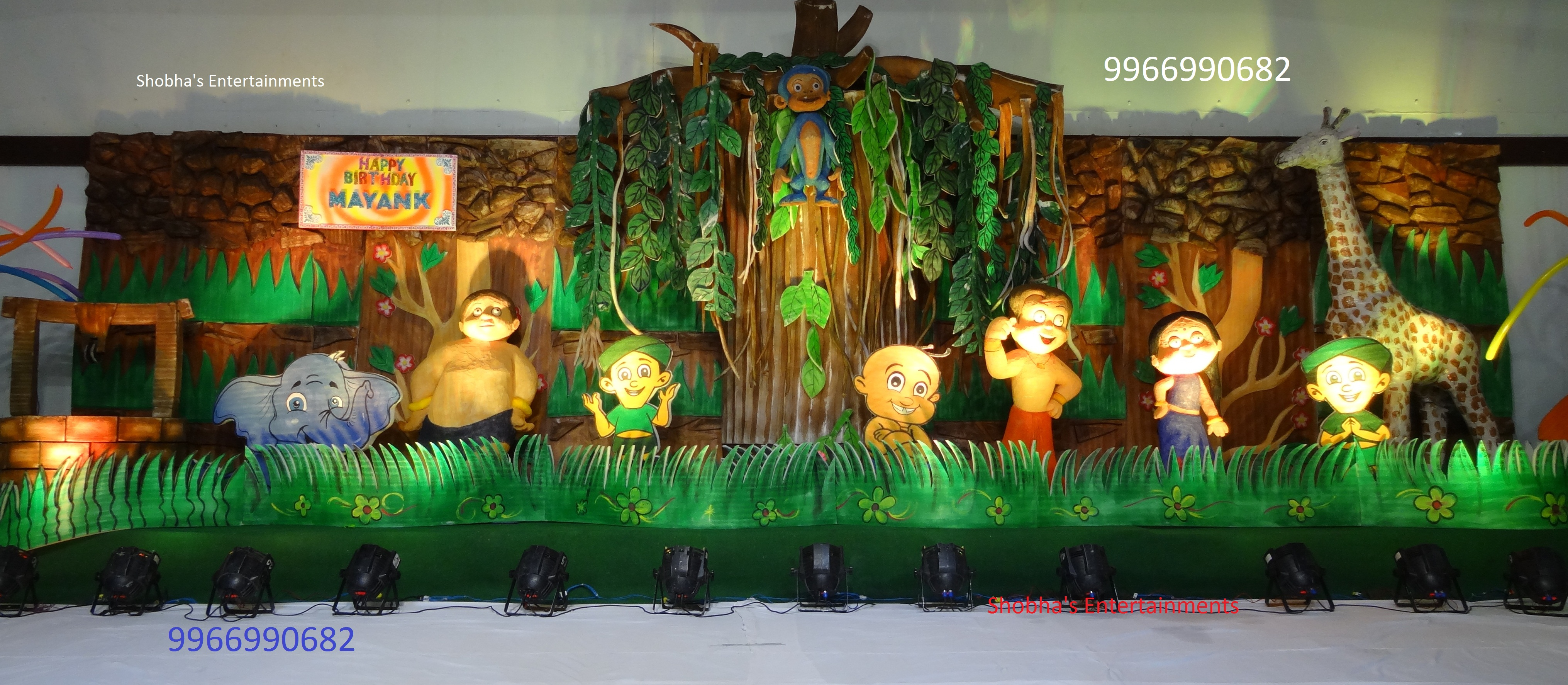 Chotabheem shobha 39 s entertainments for Annual function stage decoration