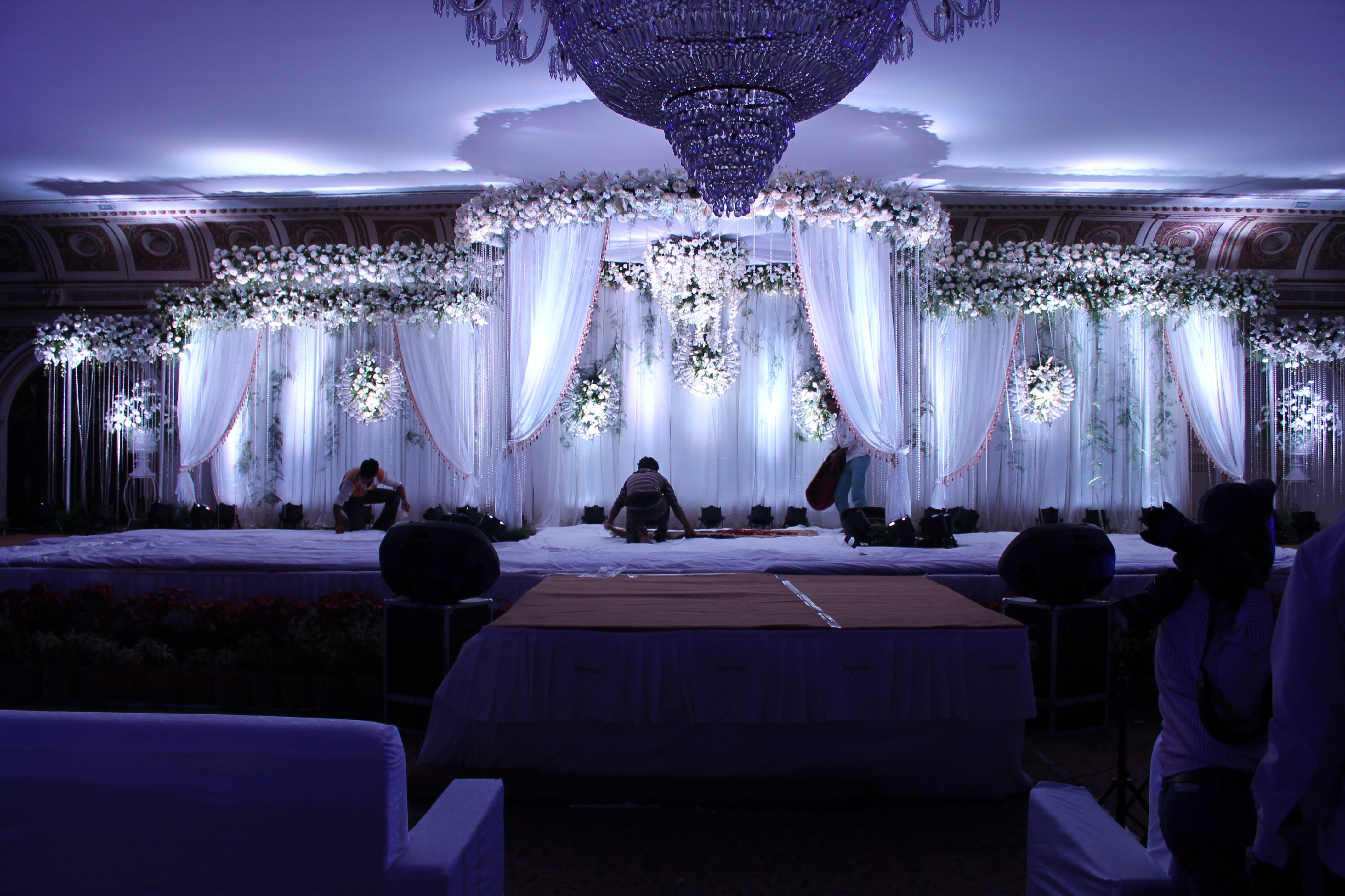 Flower decorators wedding and marriage mandap decorators for Baby cradle function decoration