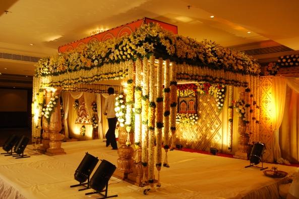 flower decorators, wedding and marriage mandap decorators and reception sangeet stage decorators in hyderabad