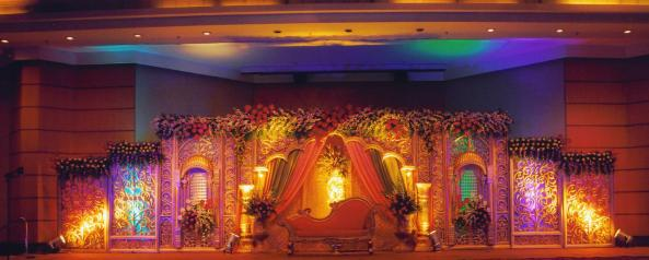 Reception, sangeet, wedding flower decorations and event organizers in hyderabad