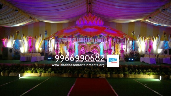 wedding flower stage decorators in hyderabad