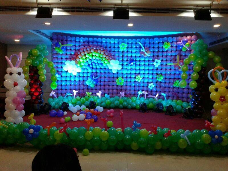 Birthday stage balloon decorators and theme 3d decorators for 3d decoration for birthday