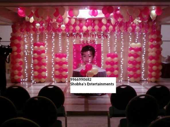 Birthday party organizers in hyderabad 9966990682 for Balloon decoration for birthday party in hyderabad