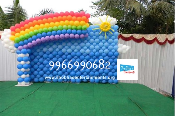 birthday stage balloon decorators and theme 3d decorators in vijayawada (12)