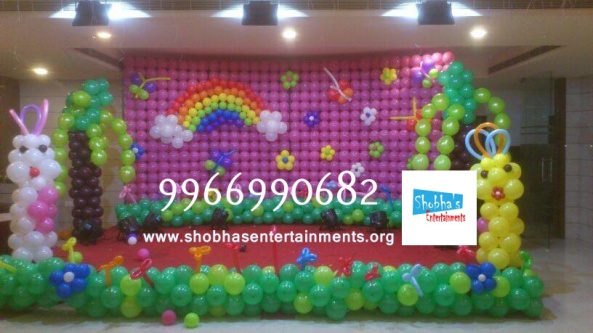 birthday stage balloon decorators and theme 3d decorators in vijayawada (3)