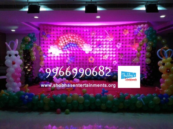 birthday stage balloon decorators and theme 3d decorators in vijayawada (5)