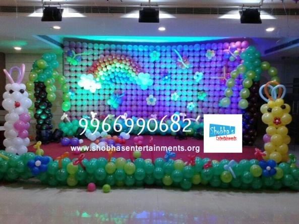 birthday stage balloon decorators and theme 3d decorators in vijayawada (7)