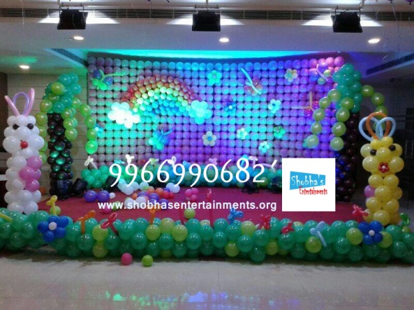 birthday stage balloon decorators and theme 3d decorators in vijayawada (7)