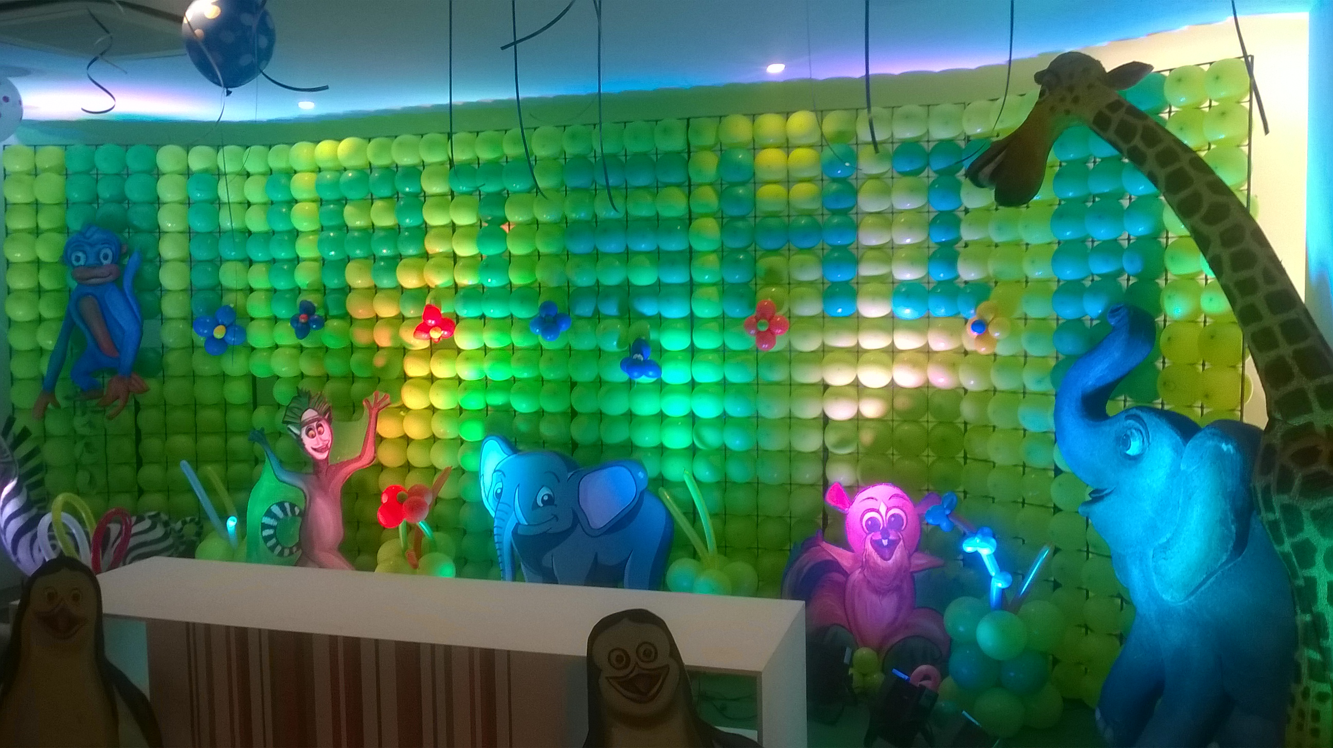 At 40 Party Decorations Birthday Stage Balloon Decorators And Theme 3d Decorators In