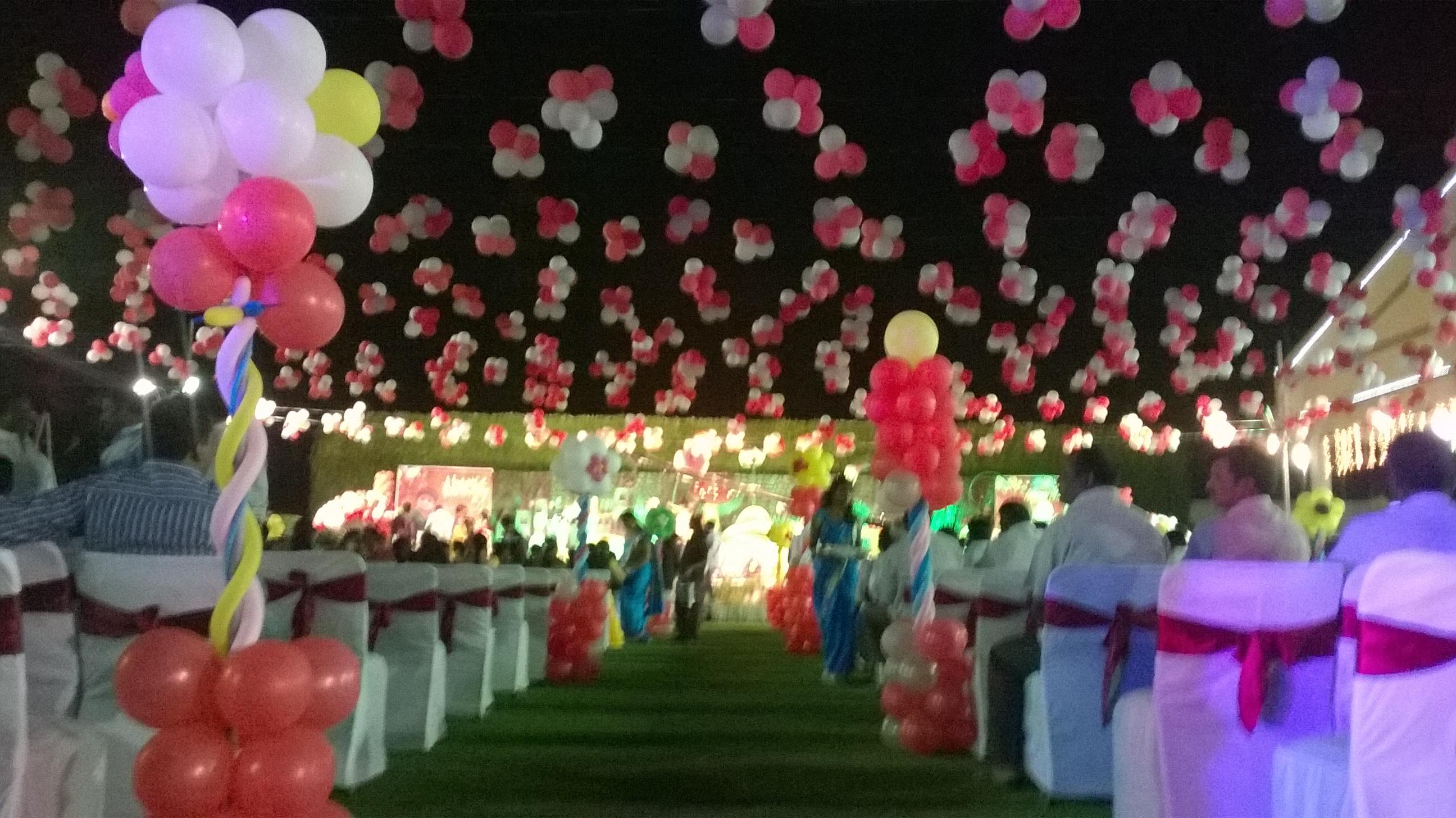 Balloon decoration in hyderabad shobha 39 s entertainments for Balloon decoration in hyderabad