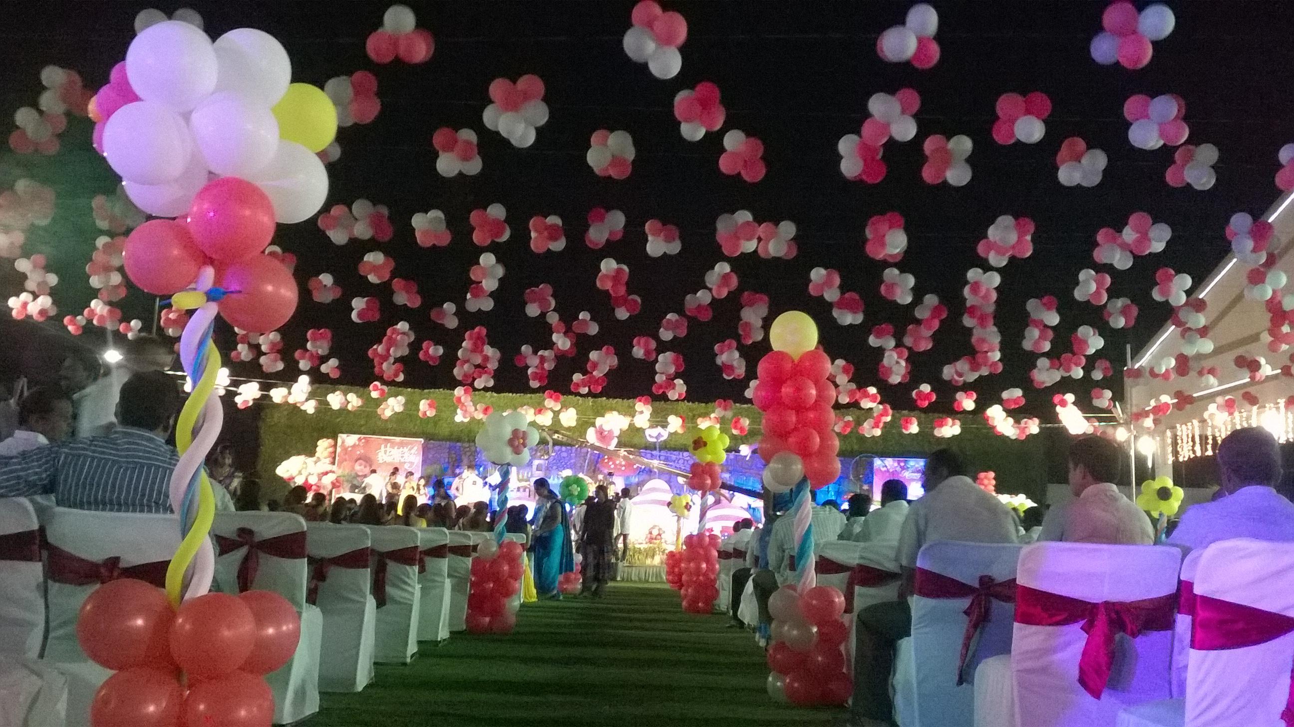 Balloon decorators and birthday party theme decorations in for Balloon decoration in hyderabad