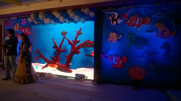 Nemo Underwater theme birthday party organizers in Warangal Hyderabad Telangana Andhra Pradesh (10)