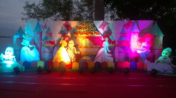 We are from shobha s entertainments a professional event for 1st birthday stage decoration hyderabad
