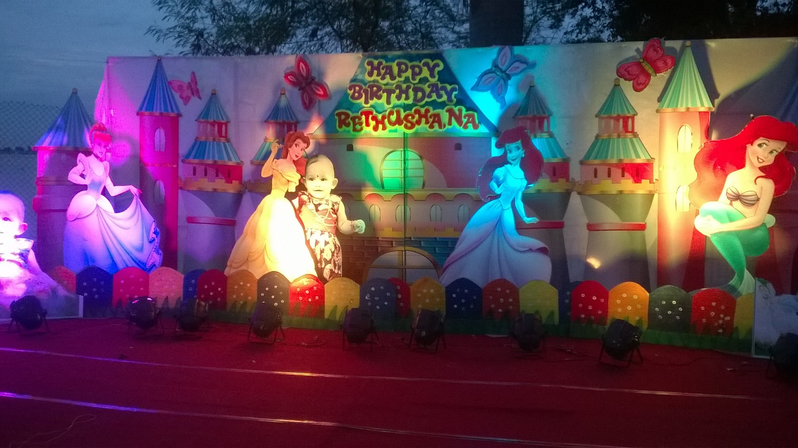 Birthday party decorations stage decorations and birthday for Annual function decoration