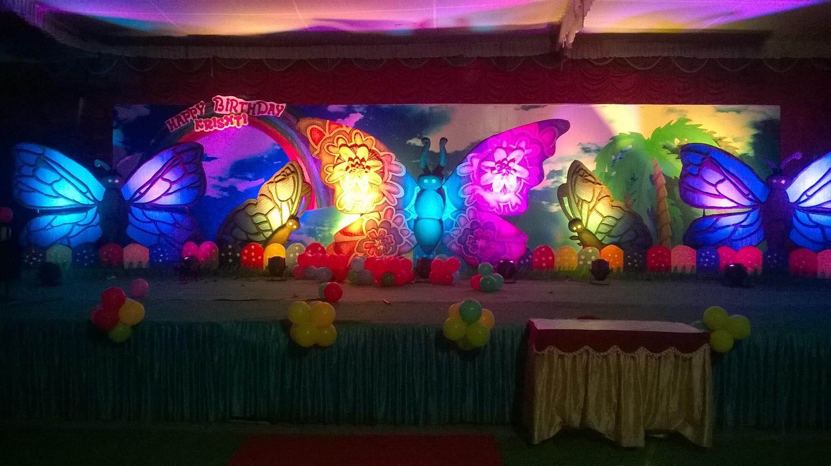 Birthday party organizers and stage decorators in for 3d decoration for birthday