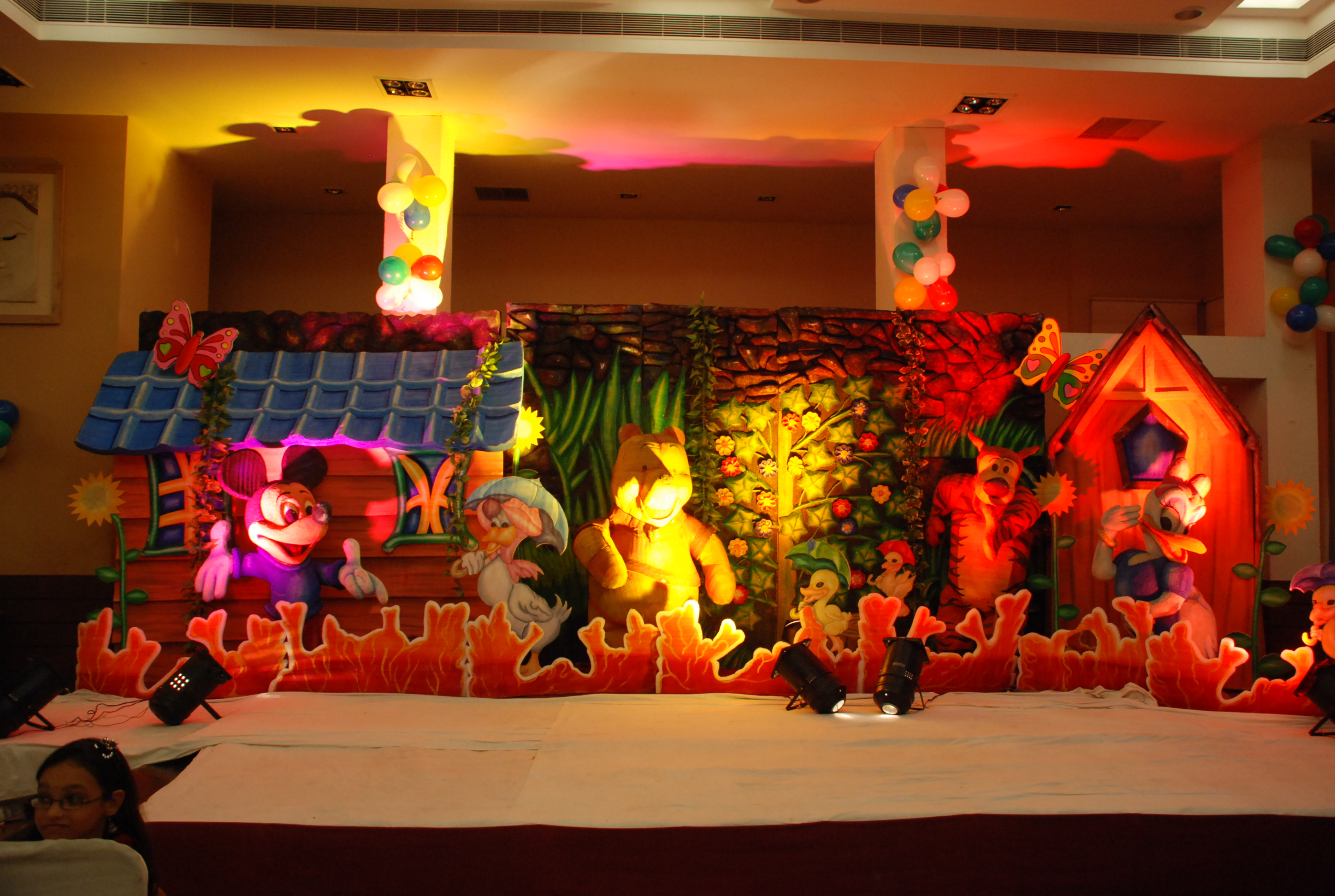 Birthday decorators and kids birthday party organizers in for 1st birthday stage decoration hyderabad
