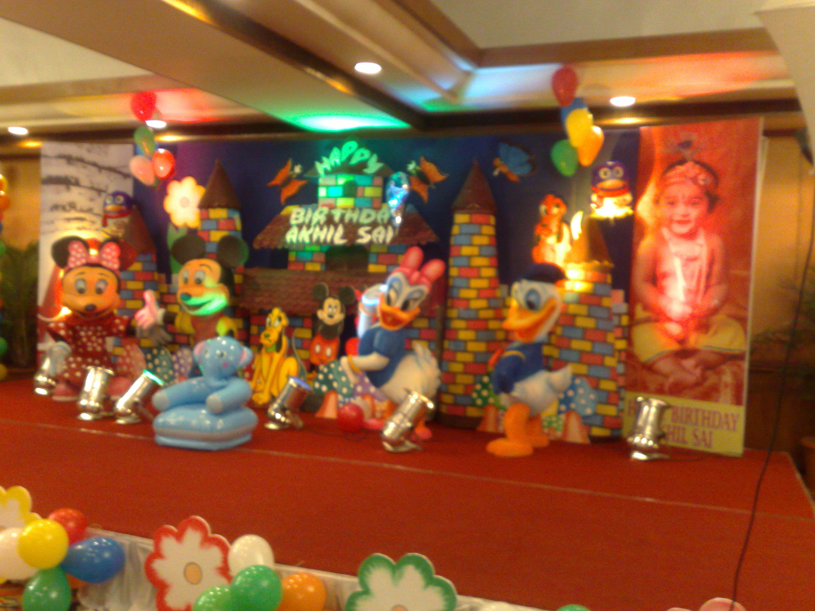 Birthday decorations in hyderabad shobha 39 s entertainments for Balloon decoration birthday party hyderabad