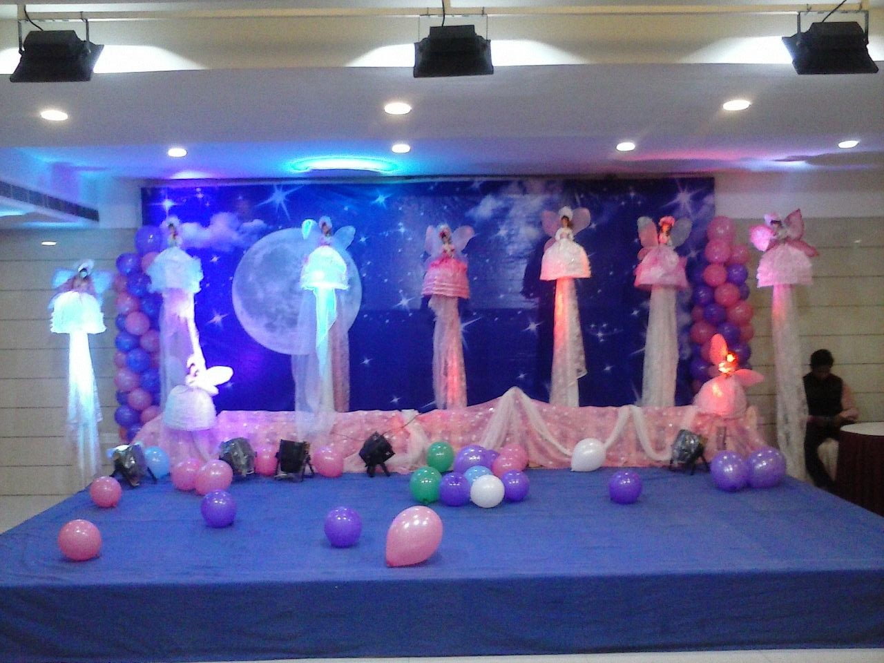 Birthday party decorators and 1st birthday party for 1st birthday stage decoration hyderabad