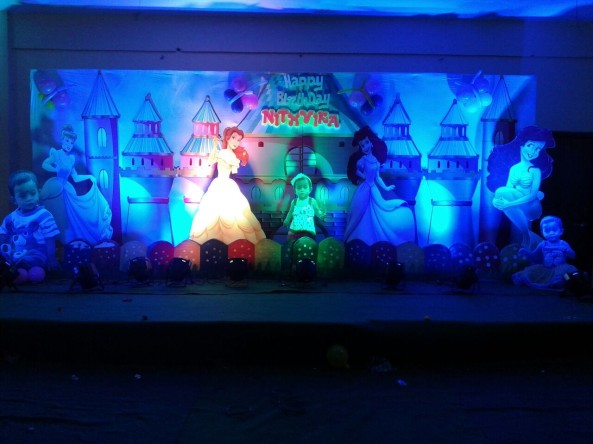 Birthday stage decorations and birthday event organizers in Hyderabad and vijayawada. castle theme for kids birthday party in Vijayawada, Hyderabad