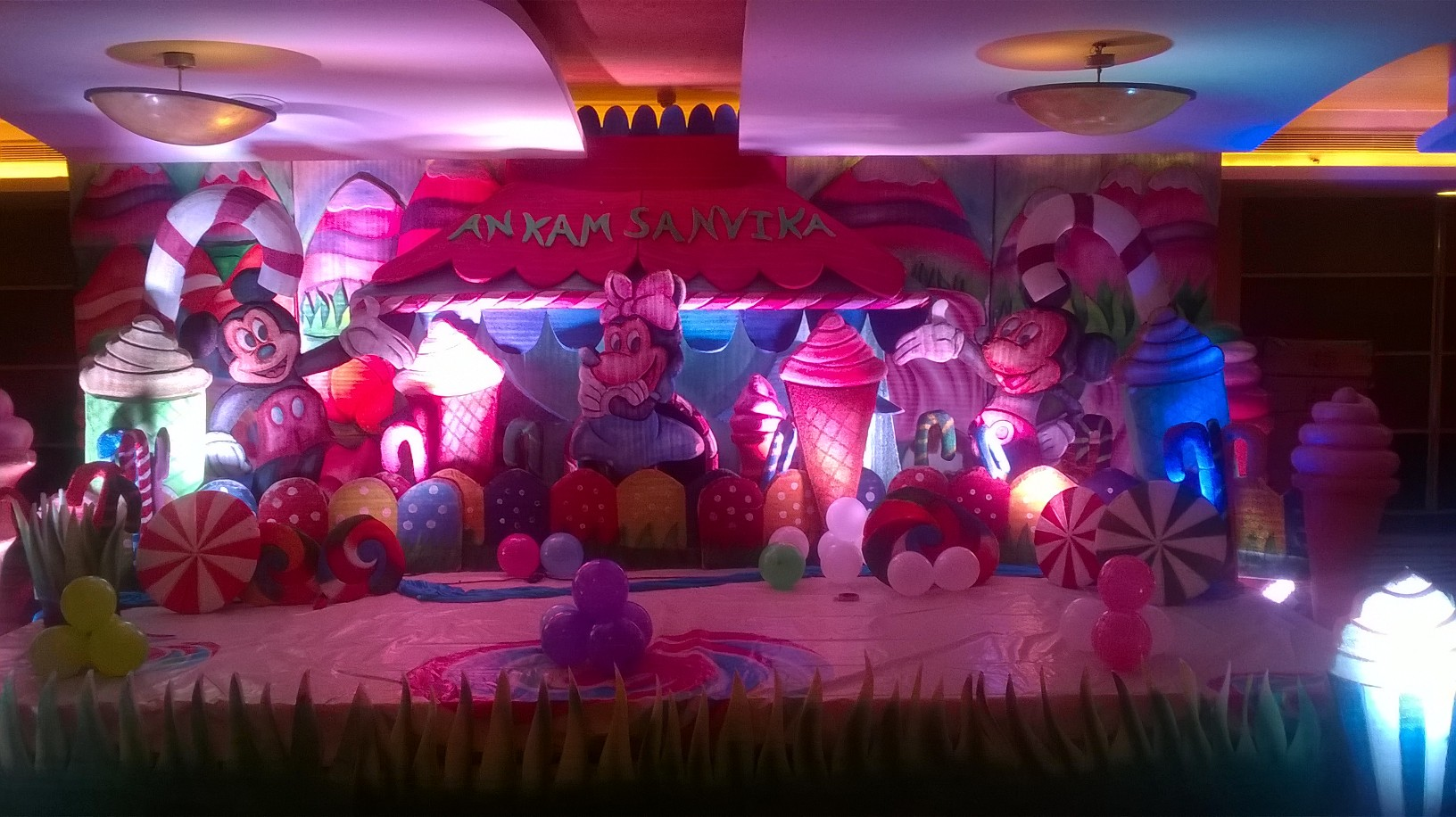 Birthday party event organizers and party theme decorators for 1st birthday stage decoration hyderabad