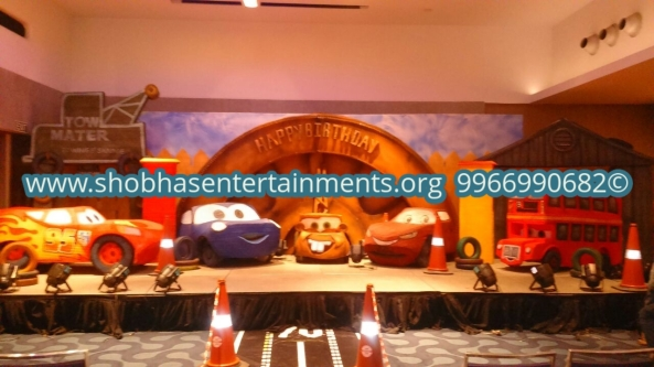 Birthday party stage theme balloon decorators and kids birthday party organizers in hyderabad