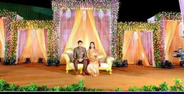 Flower Decorators Wedding And Marriage Mandap Reception Sangeet Stage In Hyderabad