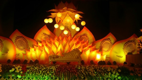 flower decorators, wedding and marriage mandap decorators and reception sangeet stage decorators in hyderabad (9)