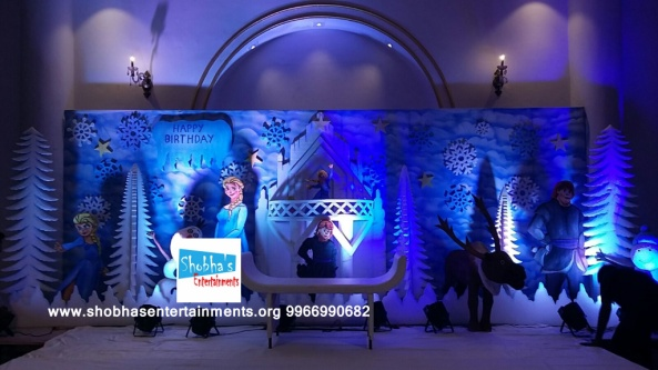 1st birthday frozen theme decorators in Hyderabad (4)
