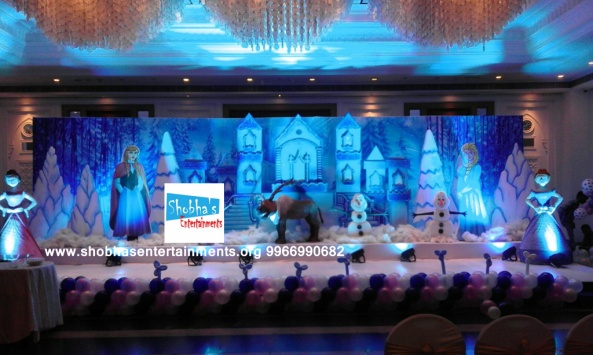 1st birthday party frozen theme birthday party decorators in hyderabad (1)