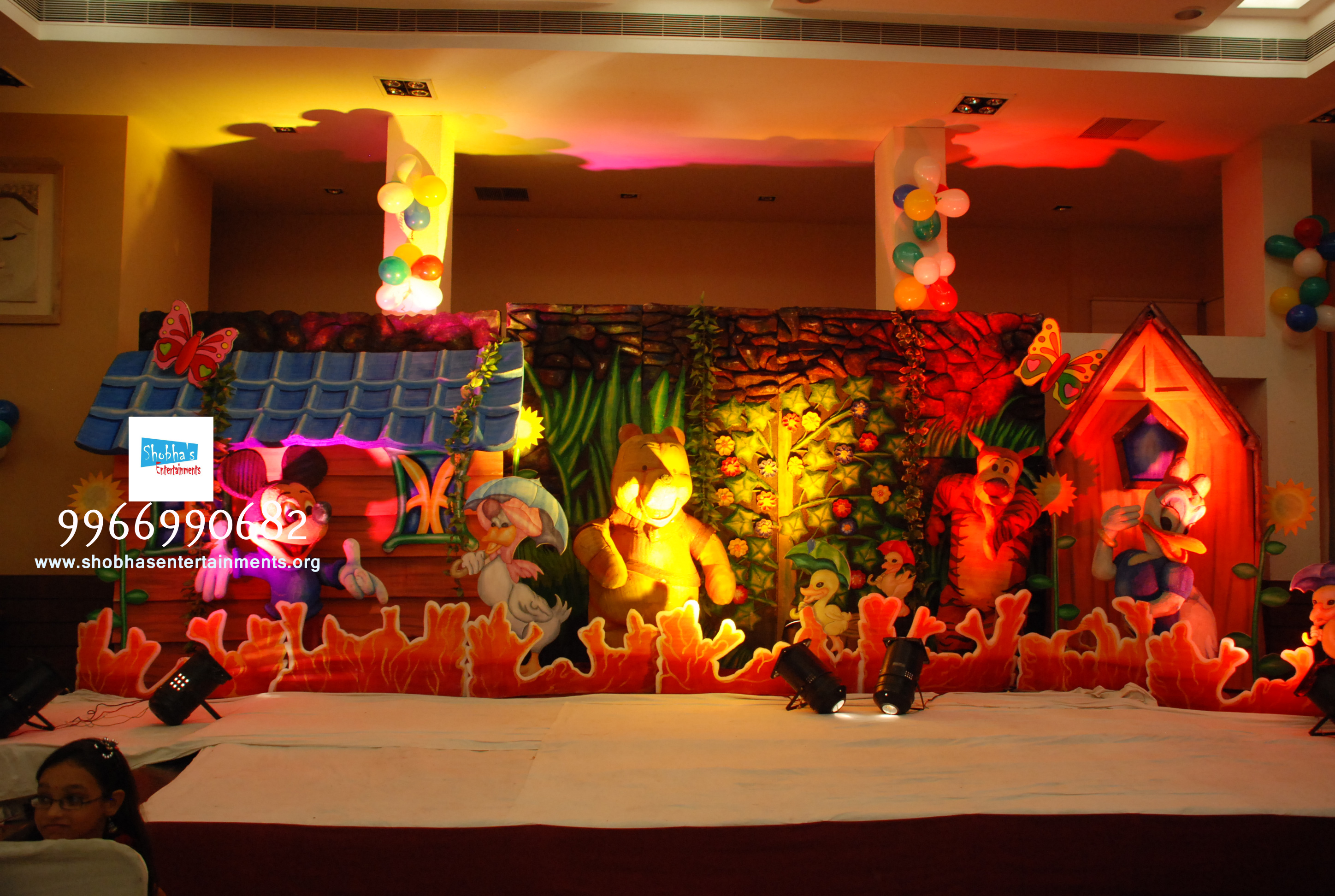 Disney Theme Decorations Kids Theme Birthday Stage Decorations In Hyderabad And Vijayawada