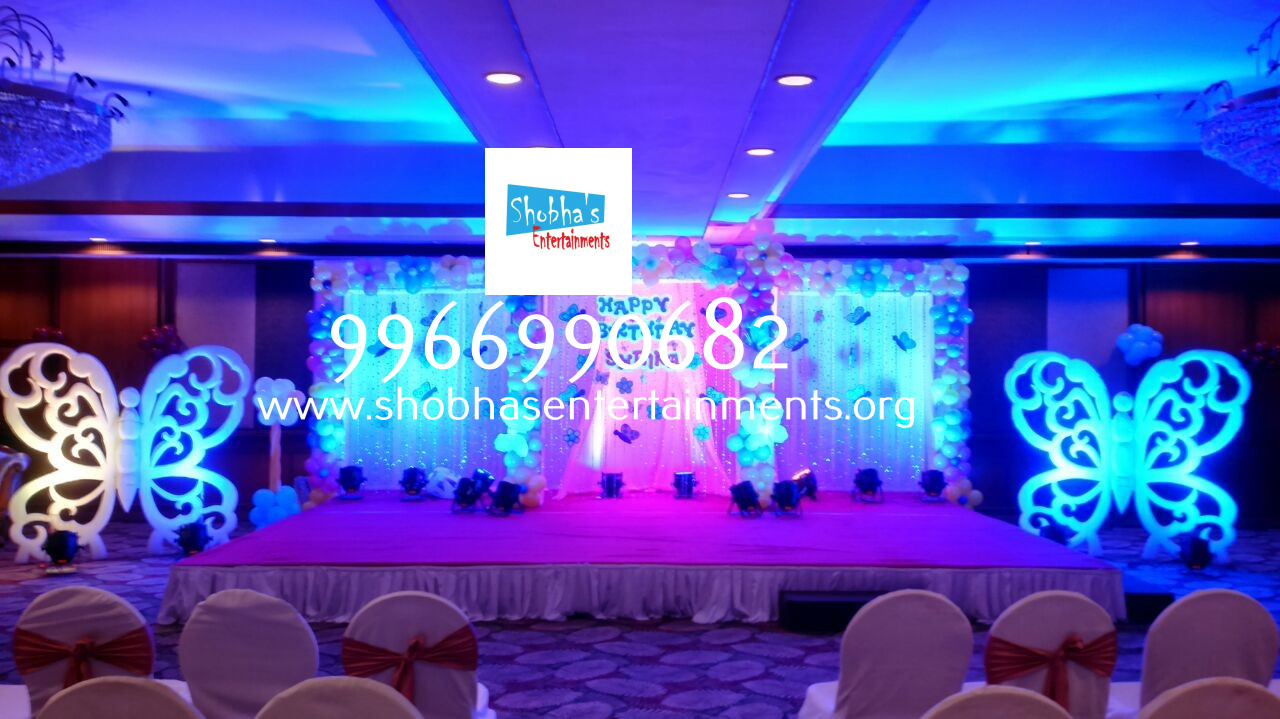 Stage decoration for birthday party in hyderabad shobha for 1st birthday stage decoration hyderabad
