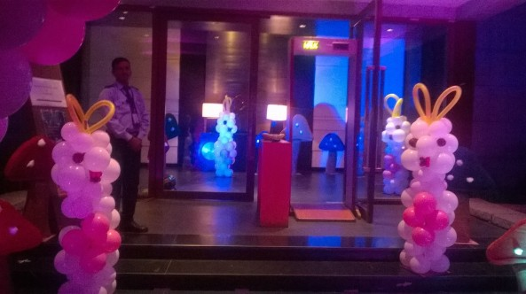 birthday party stage decorators and theme balloon decorators in hyderabad