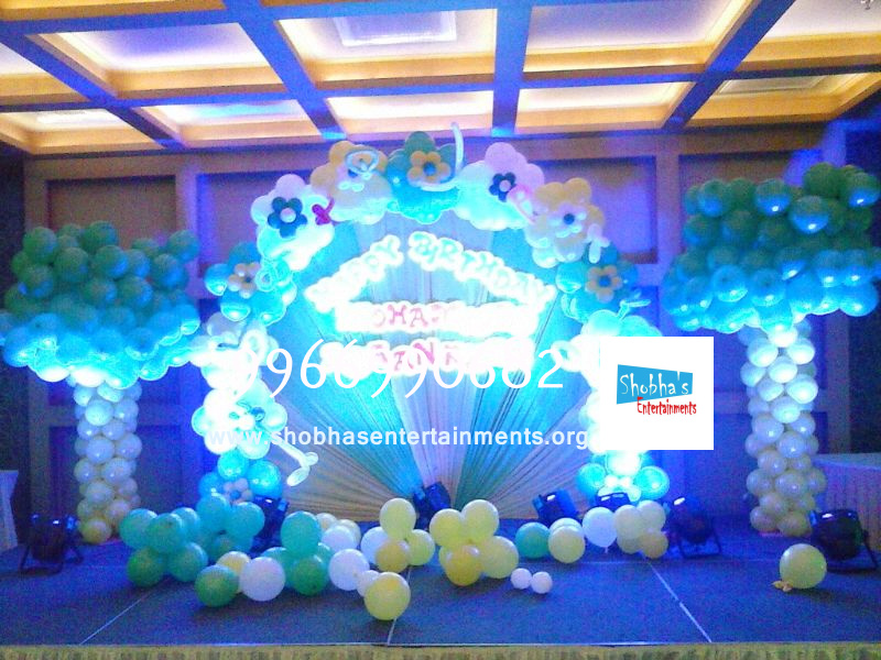 birthday stage decorations in hyderabad Shobhas Entertainments