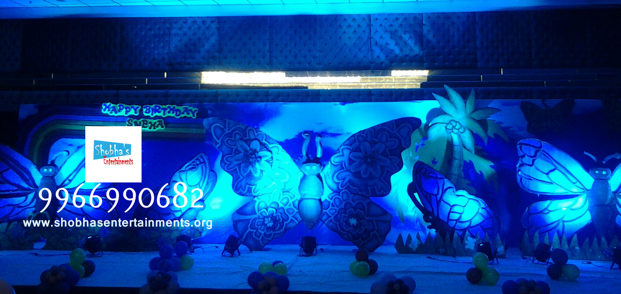 Birthday party organizers in hyderabad shobha 39 s for Balloon decoration birthday party hyderabad