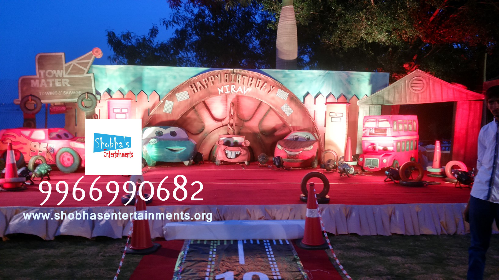 Kids 1st birthday party organizers in hyderabad shobha 39 s for Balloon decoration cars theme