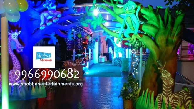 3d chota bheem theme stage in hyderabad shobha 39 s for Balloon decoration for birthday party in hyderabad