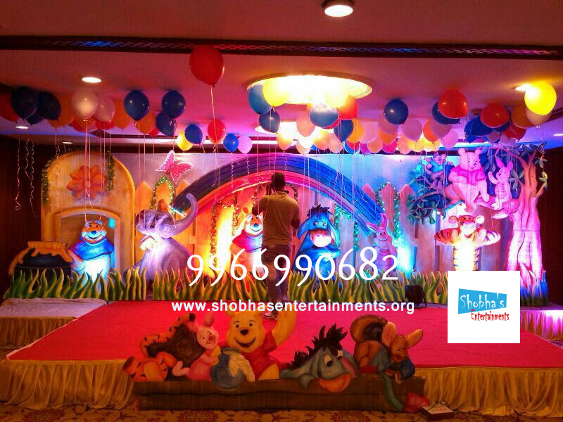 Kids 1st birthday party organizers in hyderabad shobha 39 s for 1st birthday stage decoration