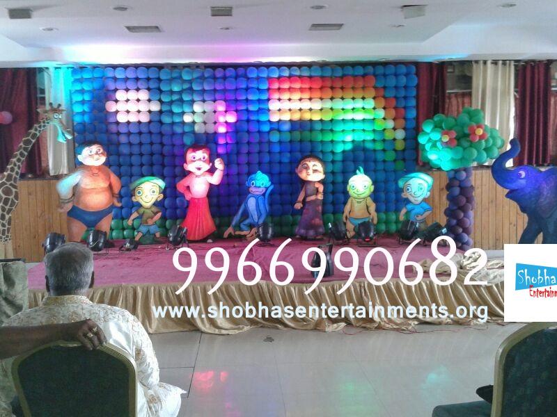 Balloon walls shobha 39 s entertainments for Balloon decoration in hyderabad