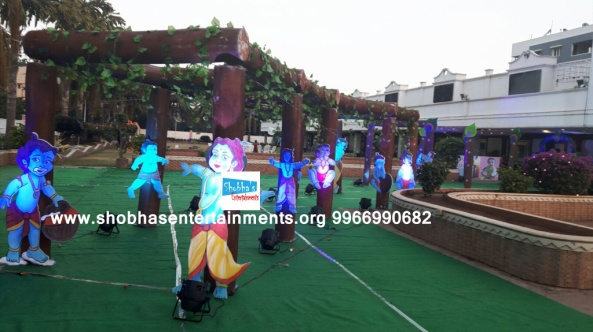 krishna theme birthday party decorators in Hyderabad (26)
