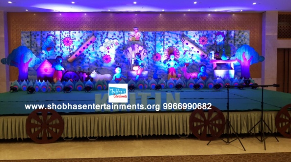 krishna theme birthday party decorators in Hyderabad (34)