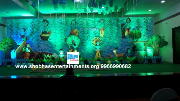 krishna theme birthday party decorators in Hyderabad (42)