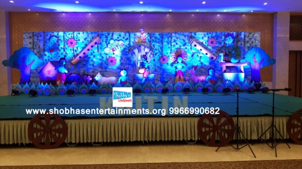 krishna theme birthday party decorators in Hyderabad (48)
