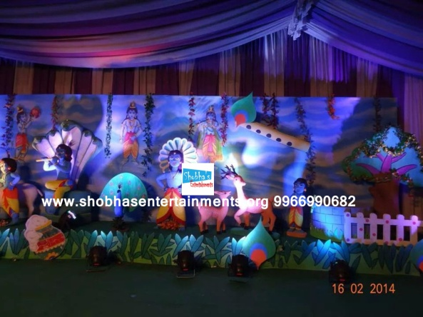 krishna theme birthday party decorators in Hyderabad (5)