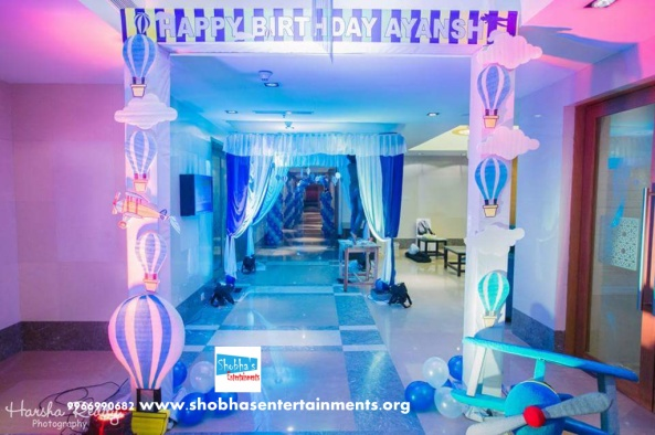 Parashute theme birthday party decorators in Hyderabad (2)