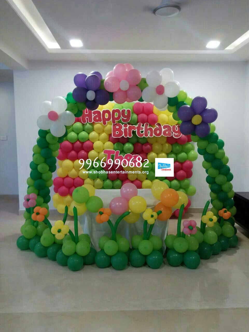 Birthday balloon decorators in hyderabad shobha 39 s for Balloon decoration in hyderabad