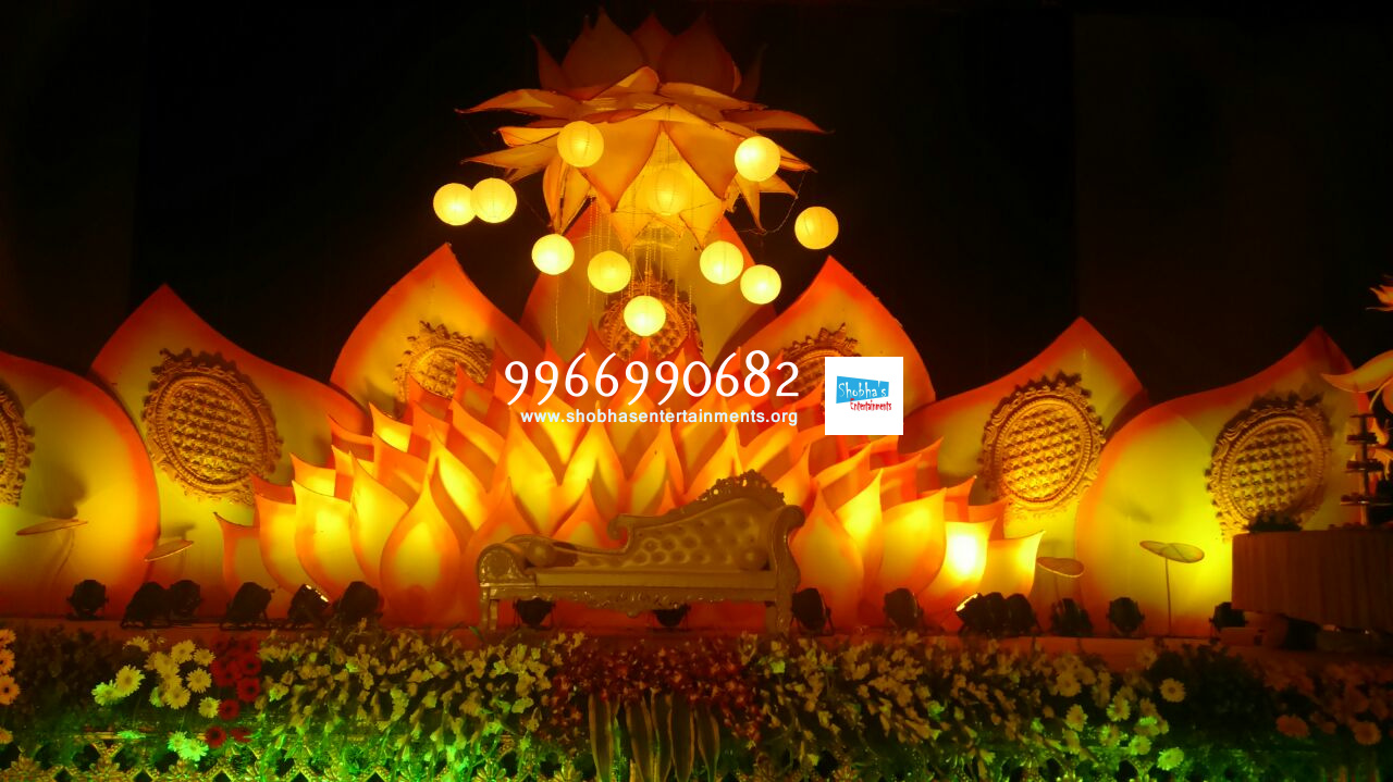 flower decorators wedding and marriage mandap decorators and reception sangeet stage decorators in hyderabad - Decorators