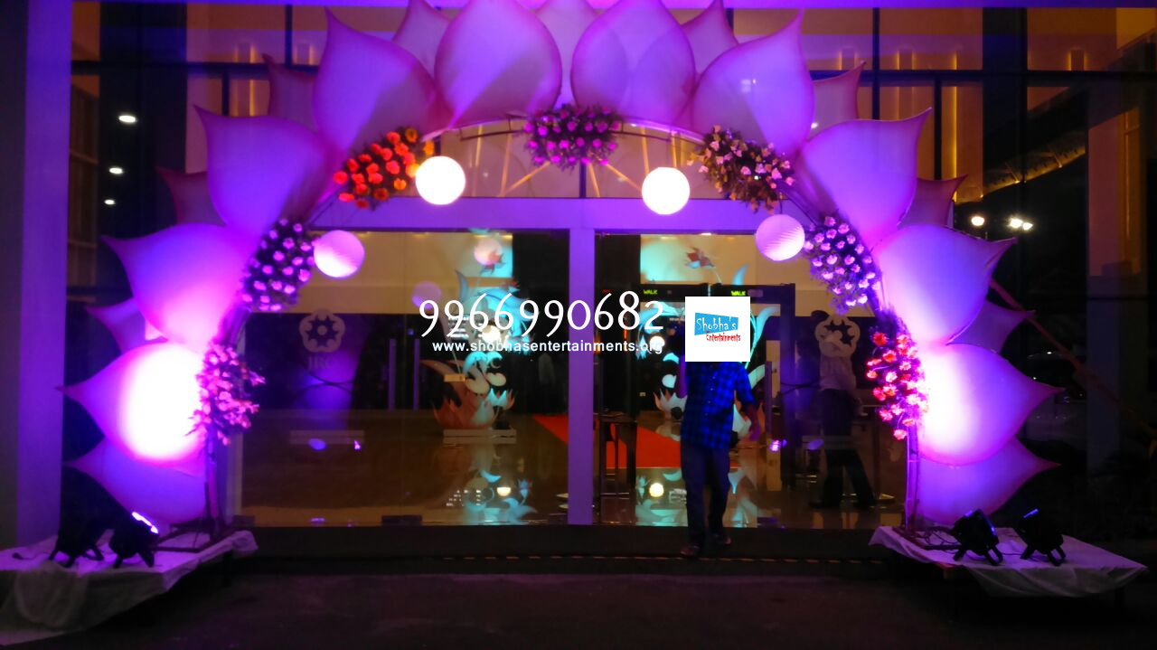 Flower engagement decoration shobha 39 s entertainments for Different types of wedding decorations