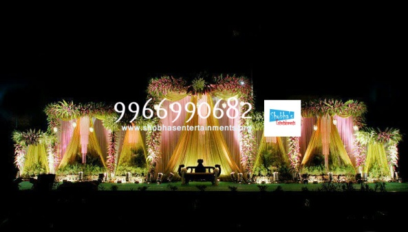 flower decorators, wedding and marriage mandap decorators and reception sangeet stage decorators in hyderabad (7)