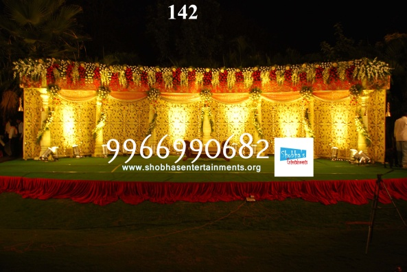 Reception decorations,engagement decorators, sangeet ceremony organizers , wedding flower decorations and event organizers in Hyderabad (24)